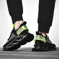 Male 2019 new mesh flying woven white shoes men' s fashi...