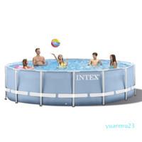 Großhandels-INTEX 305 * 76 cm Rund Feld Above Ground Pool Set 2020 Modell-Teich Familie Pool Filterpumpe Metallrahmenstruktur