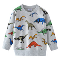 Boys T Shirts Autumn Long Sleeve Tops Kids Dinosaur Applique...