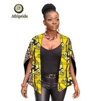 2019 African clothing for women coats and jackets ankara Tank top fabric print dashiki cotton coat plus size AFRIPRIDE S1924013