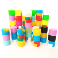 Silikonwachsbehälter tupfen Gläser Minikästen 500pcs / lot 2ml Antihaft-Silikongläser tupfen Wachs-Silikonbehälter für tupft Ölbehälter ab