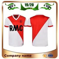 1977/1982 Retro Versão Monaco Soccer Jersey 77/82 Home Dalger Tuybens Vintage Camisa de futebol clássico de manga curta uniforme de futebol