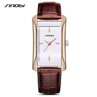 SINOBI 우아한 여성의 사각형 손목 시계의 가죽 손목 시계 최고 명품 브랜드 여성 제네바 석영 시계 여성 선물