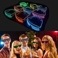 El Tel Neon LED Işık Yukarı Shutter Parti Gözlük Aydınlatma Klasik Bright Light Festivali gözlük 10pcs OOA3787