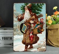Christmas Metal Malerei Vintage-Wandaufkleber Wand-Kunst-Eisen-Paintings Metallschilder Tin Plate Pub Bar Garage Wände Dekoration 75977