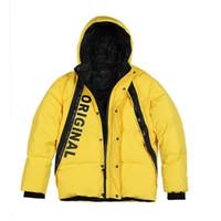 Зимняя мода Белая утка вниз пальто Мужчины Hip Hop Письмо куртки высокого качества Parka Slim Fit Марка одежды размер M-3XL