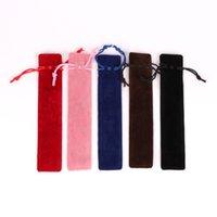 소녀 학교 용품 용 새 크리스탈 펜 케이스 플란넬 작은 연필 상자 편지지 선물 연필 케이스 선물 펜 가방 공급
