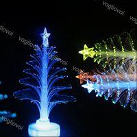 Luci notturne albero di Natale fascino piccolo led fibra ottica multicolor illuminazione per vacanze per la decorazione del tavolo da casa EUB