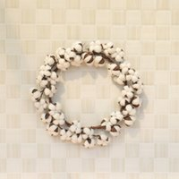 Dry Cotton New Flowers Wreath Party Festival Wedding Decorat...