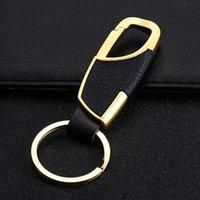 Cintura Llaveros Nunca Rust metal creativo de coches Promoción Llavero de piel resistente portátil logotipo personalizado llavero de Hombre al por mayor DH0846 T03
