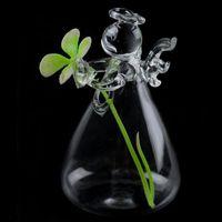 واضح ملاك زجاج معلق زهرية زجاجة تيراريوم المائية الحاويات النبات وعاء DIY المنزل والحديقة ديكور هدية عيد ميلاد 2 مقاسات DBC BH2654