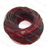 اكسسوارات الإضاءة كابل 2pin أحمر سلك أسود 20 AWG 21 قطع النحاس المعلبة ل اللون واحد 5050 3014 2835 led قطاع dhl
