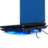 refrigerador almohadilla portátil de refrigeración con silencio de los ventiladores LED del puerto Holder ajustable para portátil 2 USB para MacBook Air / Pro 12 - 17.3