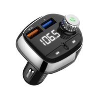 T61 Dual USB-Ladegerät Bluetooth-Hände Freier Audio-MP3-Player FM Car Kit-Sender mit 3.1A Schnellladung
