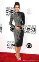 2019 New Golden Globe Awards Celebrity Kleider Abendkleid Stehkragen Lange Ärmel Kristall Perlen Roten Teppich Kleid 105