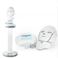 Nuevo diseño vertical 3 colores PDT galvánica llevó máscara facial con terapia de luz LED soporte para rejuvenecimiento de la piel