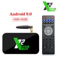 UGOOS X2 Pro Android 9.0 Smart TV Box 4GB RAM DDR4 32GB Amlogic S905X2 X2 cube 2gb 16GB Set Top Box 2.4 G / 5G WiFi 1000M