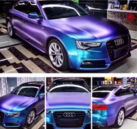 Chameleon Pearl Matt Viola metallizzato Blue Vinyl Car Wrap cartoccio con rilascio dell'aria Chameleon Car Sticker Decal