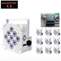Vol de charge Paquet 10in1 9 * 18W RGBAW UV à distance Led Par Cans scène LED Affichage 13200MHA Grande batterie rechargeable