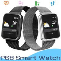 Deportes IP68 Smart Watch P68 Fitness Pulsera Rastreador de actividad Monitor de ritmo cardíaco Presión arterial para IOS Android Apple Watch