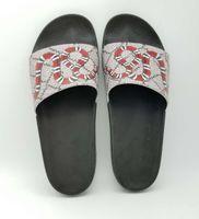 Femmes Mode Hommes en caoutchouc Slides sandales avec perle Tiger Snaker fleur extérieur plage Chaussons Flip Flops Casual