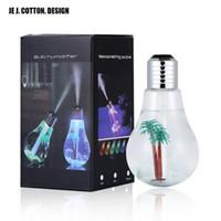 Ampoule colorée humidificateur d'air à ultrasons USB 400ML Huile Essentielle Diffuseur Atomiseur assainisseur Mist Maker pour Home Office