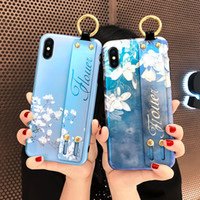 For iphone x phone case NEW silicone phone case orchid wrist...