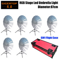 4in1 Road Case Pack Rgb Led Umbrella Light Eye Catcher Rainbow Effect Dmx512 Control Easy Installation Diameter 87cm Cmy Color Moderate Price Stage Lighting Effect