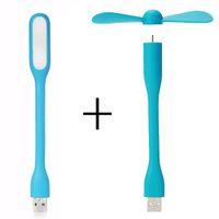 Творческий USB вентилятор гибкий Портативный мини-вентилятор и USB LED свет лампы для Power Bank ноутбук лето гаджет