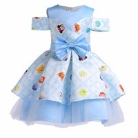 2019 Summer Baby girl dresses Kids Wedding Cartoon Printed S...