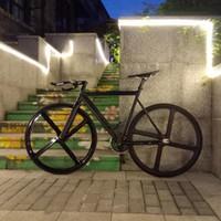 Vélo Fixie urbaine Piste cadre de vélo avec l'aluminium fourche 4 branches vélo de route en alliage de magnésium RIM simple de vitesse de vitesse fixe