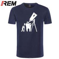 Camisetas para hombre Moda Hombres clásicos Cuello redondo Cuello de manga corta Camiseta Diseño hombre novedad limpieza dentista tops tops tees Casual Ropa