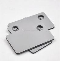 Carte de crédit de gros de haute qualité fumeurs tuyaux en métal pour fumer Cliquez Fun Métal Fit magnétique en portefeuille tubes en verre d'argent Livraison gratuite