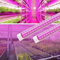 LED成長光、フルスペクトル、高出力、2FT 24W 4FT 60W 8フィート120W T8 V Shape Double Liveは屋内植物のためのライトを育てます