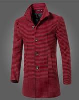 Мода 2016 Новые зимние мужских одежды бренд длинного участок воротник ломаных шерстяные пальто мужчин вскользь тонкая куртка шанец