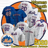 Newyork Pete Alonso Jersey Jacob Deemom 48 Mike Piazza 34 NOAH Syndergaard 30 Michael Conforto 9 Брэндон Nimmo 2020 сезон