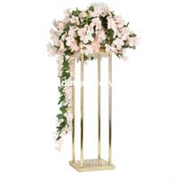 novo estilo de Casamento Corredor De Metal Passarela Flor Suporte Para Decoração de Casamento decor1123