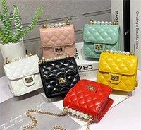 Kinder Desugner Handtaschen New Girls Cion Geldbörsen Fashion Pu Kette Cross-Body-Taschen Classic Diamond Check Messenger Bags Großhandel Anpassung