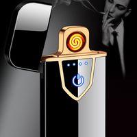 Дешевые круто утилита электрический USB аккумуляторная Cigarett легче вольфрамовая проволока нагревателя ветрозащитная металла синий красный черный серебристый золотой черный h7168