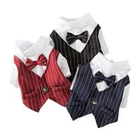 Gentleman Dog Clothes Wedding Suit Formal Shirt For Small Do...