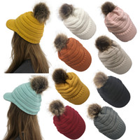 Winter Women Knitted Hat Warm Pom Pom Wool Hat Ladies Skull ...