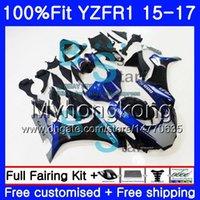 ヤマハYZF R1 1000 YZF-R1 15 16 17 243HM.15カウリングブルーホットYZF-1000 YZF R 1 YZF1000 YZFR1 2015 2016 2017 2017フェアリゾートキット