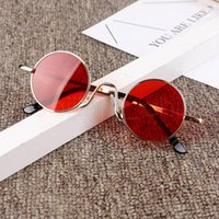 Moda bambini rotonde Occhiali ragazze Candy Colore Lenti Occhiali da sole della struttura del metallo Parasole Occhiali Ragazzi Viaggi occhiali TTA-1024