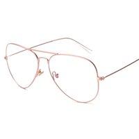 Wholesale- 2 Größe Wrap Pilot Brillen Optische Damen Herren Lesebrille Rahmen Myopie Brillen Brand Design oculos de grau
