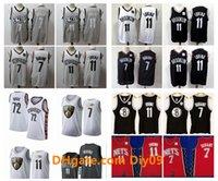 Hommes 11 Kyrie Irving RetourBrooklynNets Jersey 7 Kevin Durant City 72 Black Biggie Edition Vintage Jerseys de basketball cousu