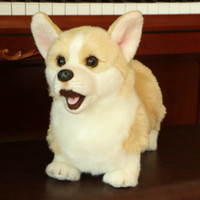 peluche courte pattes Corgi poupée Simulation jouets en peluche animaux super jouet réaliste pour les amoureux de chien décoration de la maison de luxe pour animaux Y200111