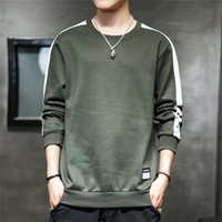 Plus Size Men Hoodies Fall Langarm-T-Shirts Hit Farbe O Ansatz beiläufiger Mens-Sweatshirts