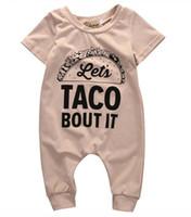 2019 Pamuk TACO BUTU BUN Romper Yaz Yenidoğan Çocuklar Bebek Kız Erkek Romper Tulum Giysileri Kıyafetler Yeni