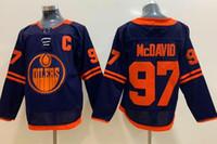 2019 Uomo Edmonton Oilers 97 McDavid White Road Black 33 Talbot 19 Maroon 29 Draisoaitl 27 Lucic 93 Nugent-Hopkins Training Hockey Jersey