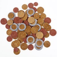 Набор из 80 пластиковых игрушек евро монеты играют деньги математические школьные учебные ресурсы